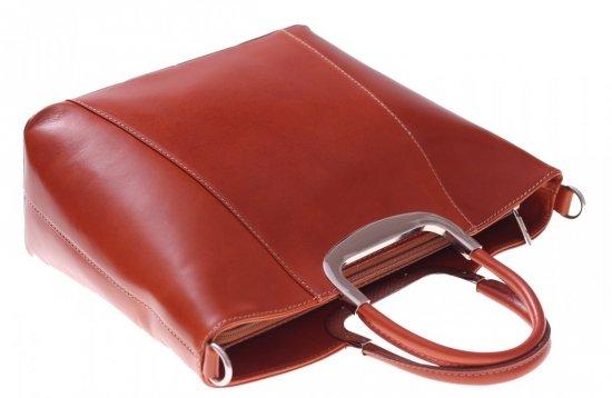 Skórzany kuferek do Ręki z długim paskiem Rudy