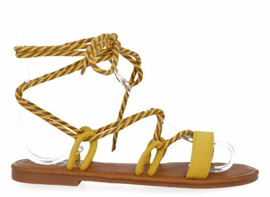 Żółte modne sandały damskie firmy Givana