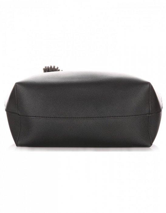 Duża Torba Damska David Jones Typu Shopper Bag XXL z Kosmetyczką Czarna