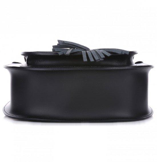 VITTORIA GOTTI Made in Italy Ekskluzywna Listonoszka Skórzana Czarna