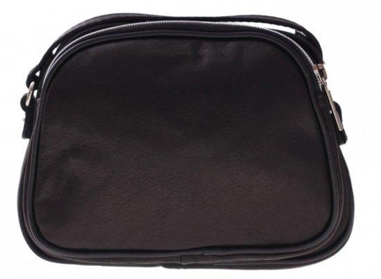 Listonoszki skórzane Genuine Leather 3 przegrody Czarna