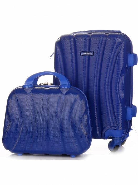 Walizki firmy Or&Mi Zestaw 2w 1 Niebieski