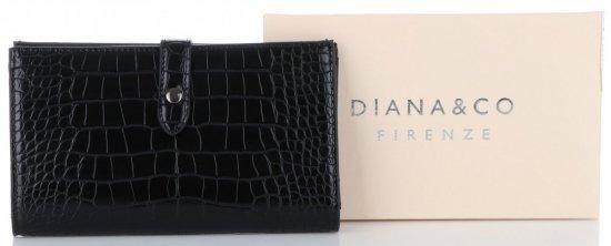 0fdc7d63f1cbd Portfel Damski Etui na Karty w rozmiarze XL firmy Diana amp Co Firenze  Czarny