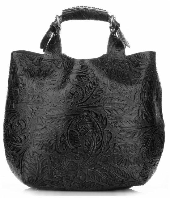 122df139da2d9 Torebki Skórzane Genuine Leather Ponadczasowy ShopprBag z Kosmetyczką Czarna
