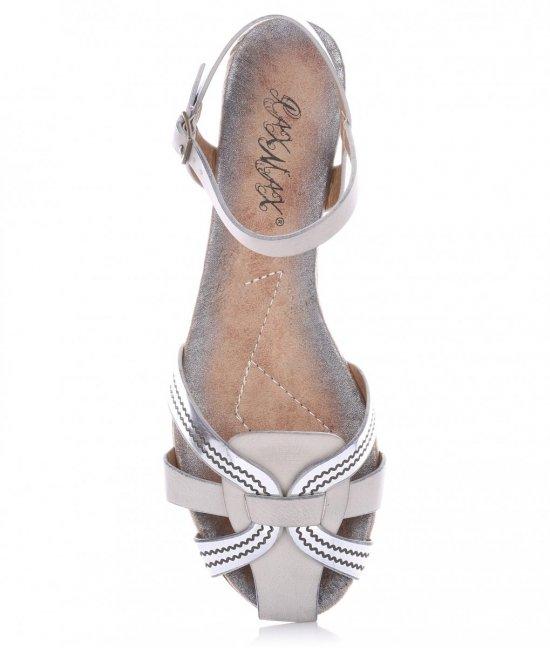 Sandały Damskie Szare