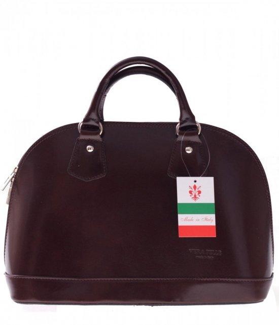 Vera Pelle čokoládová taška Kožená taška