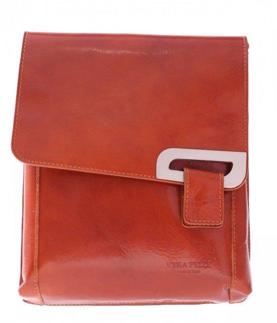 Kožené tašky poštári červená