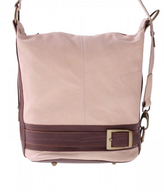 Bag batoh mäkká pravá koža béžová