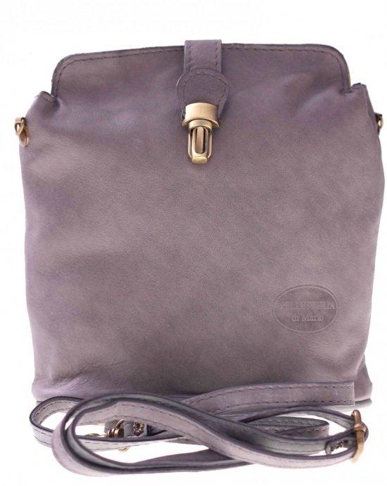 Messenger tašky mäkké šedej kože