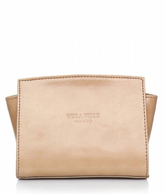 Módna kožená taška Vera Pelle béžová