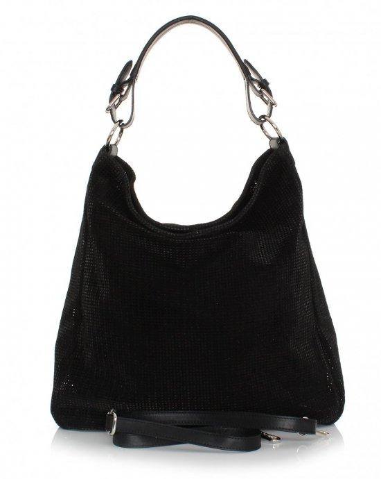 Univerzálna Kožená taška Azur čierny