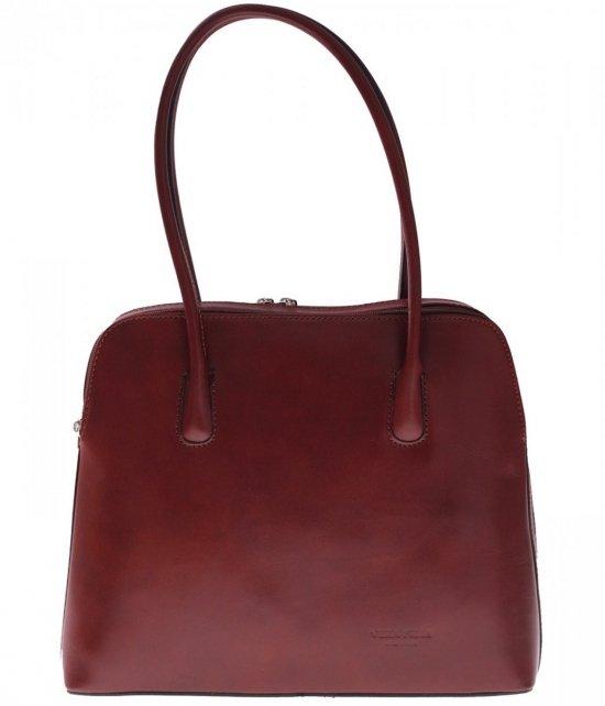 Univerzálna Kožená taška 2 priehradky hnedá