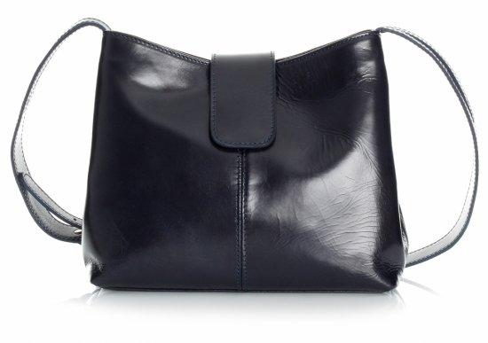 2 priehradky tmavo modré kabelky z pravej kože