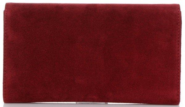 b7969f69704f0 Firmowe Kopertówki Skórzane Vittoria Gotti Eleganckie Listonoszki na  łańcuszku Made in Italy Bordowa