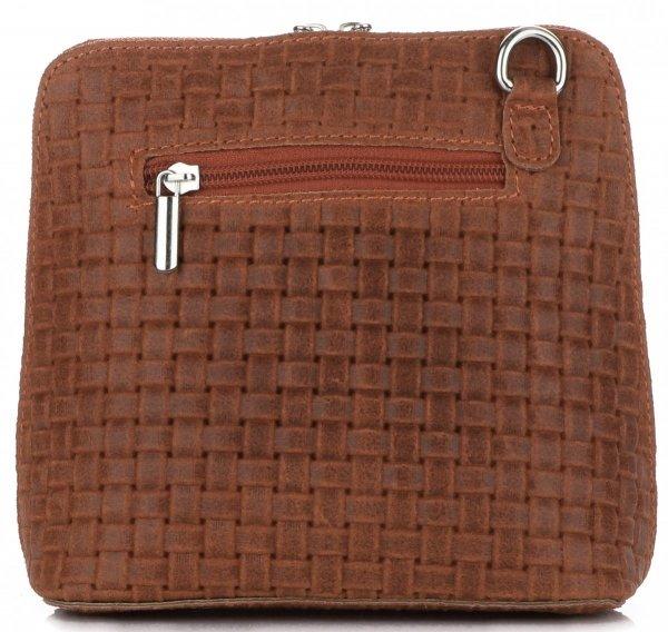 bba744562805e Mała Włoska Torebka Skórzana Listonoszka firmy Genuine Leather Ruda ...