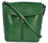 Klasická Kožená Kabelka Listonoška Vittoria Gotti Made in Italy Zelená
