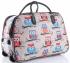 Cestovní taška v sově na kolečkách s výsuvnou rukojetí Or&Mi multicolor hnědá