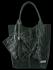 Univerzální Kožené Kabelky Shopper Bag XL se zvířecím motivem Vittoria Gotti Lahvově Zelená