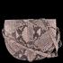 Kožená Kabelka Listonoška Vittoria Gotti Hadí Vzor Prášková růžová