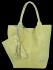 Univerzální Kožené Kabelky Shopper Bag XL se zvířecím motivem Vittoria Gotti Limetková