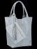Univerzální Kožené Kabelky Shopper Bag XL se zvířecím motivem Vittoria Gotti Světle Šedá