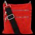 Uniwersalne Torebki Skórzane Listonoszki firmy Vittoria Gotti Czerwona