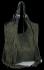 Modne Torebki Skórzane Shopper Bag z Frędzlami firmy Vittoria Gotti Khaki