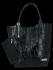 Uniwersalna Torebka Skórzana XL Shopper Bag w motyw zwierzęcy firmy Vittoria Gotti Czarna