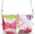 Torebki Skórzane Modne Listonoszki w malowany motyw kwiatów firmy Vittoria Gotti Made in Italy Malowana Multikolor Różowa