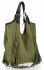 Modne Torebki Skórzane Shopper Bag z Frędzlami firmy Vittoria Gotti Zielona