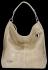Vittoria Gotti Uniwersalna Torebka Skórzana w modny motyw żółwia Beżowa