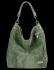 Firmowa Torba Skórzana Vittoria Gotti Made in Italy w rozmiarze XL motyw Aligatora Jasno Zielona