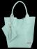 Uniwersalna Torebka Skórzana XL Shopper Bag w motyw zwierzęcy firmy Vittoria Gotti Mięta