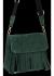 Modna Listonoszka Skórzana z Frędzlami firmy Vittoria Gotti Butelkowa Zieleń