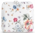 Torebka Skórzana firmy Vittoria Gotti Mała Włoska Listonoszka w modne wzory Kwiatów Biała Floral