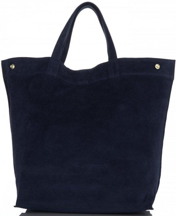 b33707f782 Univerzální Dámské kabelky ShopperBag XL Vera Pelle tmavě modrá ...