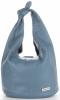 Vittoria Gotti Made in Italy Modny Shopper XL z Kosmetyczką Uniwersalna Torba Skórzana na co dzień Niebieska