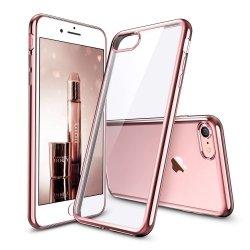 ETUI ELEGANCE PLATE iPHONE 7/ 8 4.7 + SZKŁO (rose-gold)
