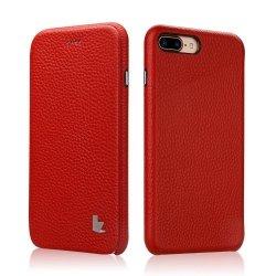JISONCASE SKÓRZANE MAGNETYCZNE ETUI iPhone 7+ 8+ (5.5) - czerwony