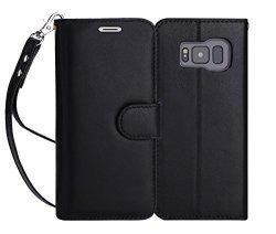 FYY Samsung Galaxy S8+ PLUS - Etui book case ze smyczką (black)