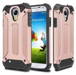 Rugged Hybrid Dual Layer Hard Shell Armor Etui Samsung Galaxy S4 (rose-gold)