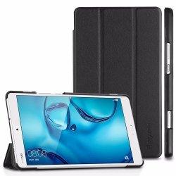 EASYACC - Huawei MediaPad M3 Lite 8.0 Case, Tri-Fold Ultra Slim Stand Smart