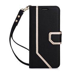 FYY MIRROR Samsung Galaxy S8 - Etui book case z lusterkiem i smyczką (black)