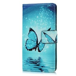 ETUI BUTERFLY WALLET BOOK CASE - HUAWEI P10 LITE