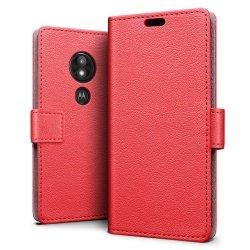Etui book case futerał - MOTO E5 PLAY (red)