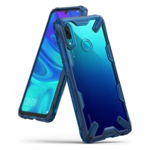 Ringke Fusion X etui pancerny pokrowiec z ramką Huawei P Smart 2019 niebieski (FXHW0012)