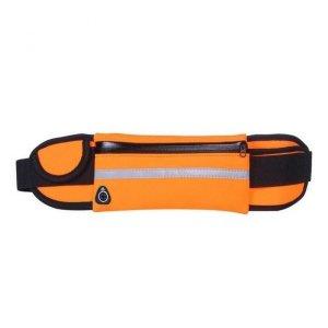 Pas do biegania saszetka nerka na bidon etui na telefon z wyjściem na słuchawki pomarańczowy