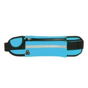 Pas do biegania saszetka nerka na bidon etui na telefon z wyjściem na słuchawki niebieski