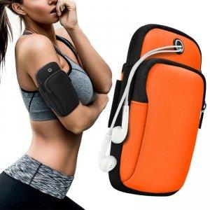 Armband do biegania opaska na ramię sportowe etui na telefon pomarańczowy