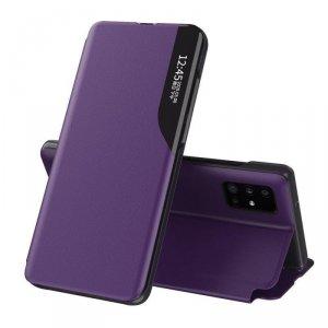 Eco Leather View Case elegancki futerał etui z klapką i funkcją podstawki Huawei P40 fioletowy